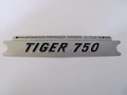 60-7055 DECAL TIGER 750 SILVER